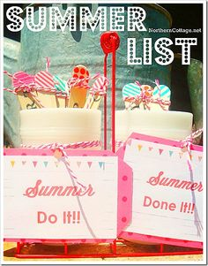 Summer List via @Gretchen Burke Cottage LOVE this!! #SummerList #BoredomBuster #Kids