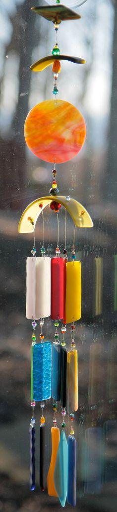 SOMEWHERE over the RAINBOW Handmade Recycled WINDCHIME