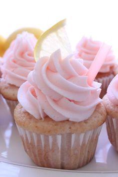 sweet, cupcakes, lemonad cupcak, yummi, recip, pink lemonade, pinklemonad, dessert, pink party food