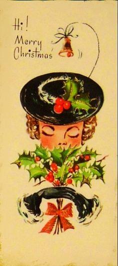 1940s Christmas Card