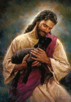 "Jesus rejoices over the lost lamb he found; he loves even the ""black sheep"" of the family!"
