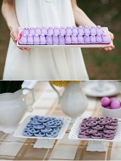 Easter table ideas ~ purple PEEPS
