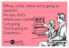 Hahaha... Except that we never seem to be able to leave our kiddos!