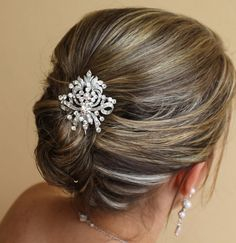 Vintage Bridal Hair Comb by Jamjewels1