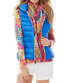 Lilly Pulitzer Allie Packable Quilted Vest