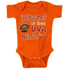 Virginia Tech Talk Smack Team Rivalry Creeper Onesie: Is It Just Me? or Does UVA Stink?