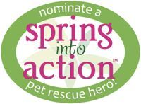 Nominate the person in your life who goes above and beyond for pets in need for a Spring into Action Pet Rescue Hero!