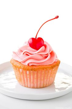 Cherry Almond Cupcakes  - way better then the box of cherry chip cake mix. They're amazingly good!
