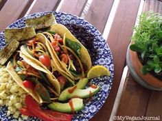 How to make vegan tacos a little bit healthier! These taste SO good!! #MyVeganJournal
