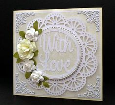 doily with love card