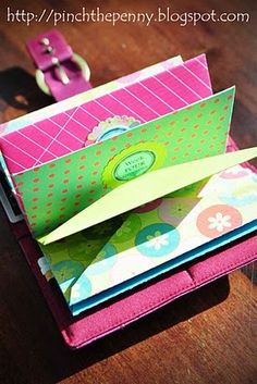 DIY pretty envelopes, Dave Ramsey cash system