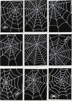 Art Projects for Kids: Spiderweb Art Trading Cards