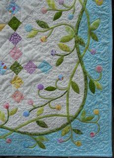 Easter Basket Quilt easter quilts, applique quilt borders, quilt2sr5, quilt borders ideas, basket quilt, baskets, quilt idea, quilt finish, easter basket