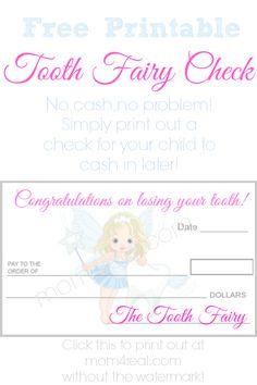 tooth fairy, fairies, tooth fairi, printabl tooth, fairi check