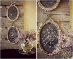 Chalk board paint and thrift store trays. Attach to old wood pallet. Shabby chic living room
