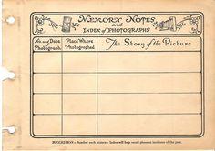 vintag, free printable journal cards, craft, memori note, paper