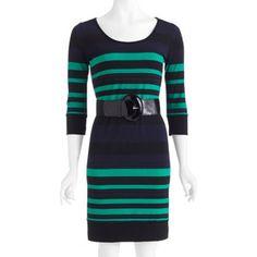 Women's Striped 3/4 Sleeve Dress