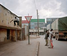 Uganda's Skateboarding Scene (with Maersk Line containers in the background) - Photographs - NYTimes.com