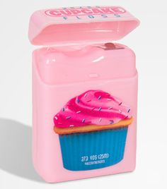 Cupcake-flavored dental floss!