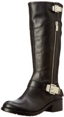 Vince Camuto Women's Waymin Motorcycle Boot Now for 89.97. Leather. Manmade sole. Shaft measures approximately 14.25 from arch. Heel measures approximately 1.5. Boot opening measures approximately 14.5 around. Leather. Manmade sole. Shaft measures approximately 14.25 from arch. Heel measures approximately 1.5. Boot opening measures approximately 14.5 around
