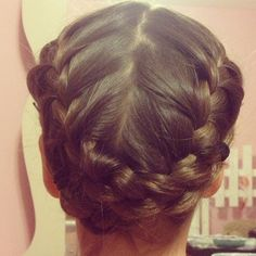 Double crown braid tutorial