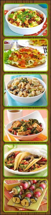 #Meatless #recipes from Hungry Girl!! PIN & TRY!!!!