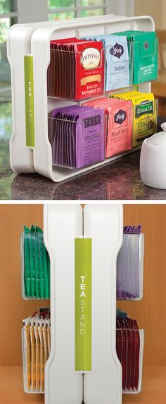 Tea Stand // Tea bag organizer... great idea! #product_design #for_the_home