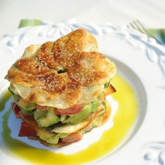 Potato Galette Avocado Salad Square by Apron Strings Blog, via Flickr