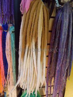 Wool Dreadlock Extensions Full Set Hand Dyed with by StudioSundari, $225.00