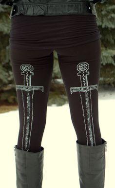 Sword Leggings. $35.00, via Etsy.