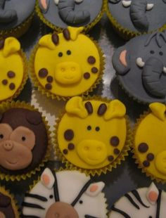 Hats and Bells Animal Cupcakes