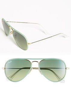 in love with these mint green aviators