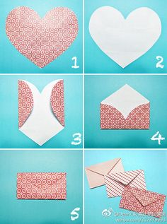 DIY heart Envelope... quick and easy