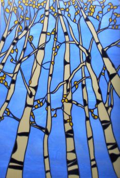 Impressions Of A Would-Be Artist: Fall Aspen Trees #stained glass