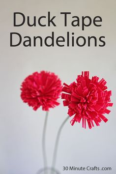Duck Tape Dandelions summer crafts, duct tape, cute duck tape ideas, tape flower, tape dandelion