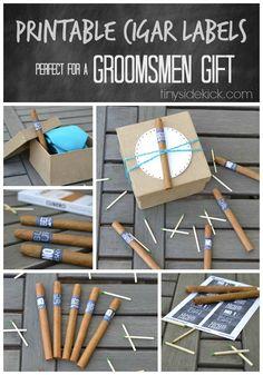 gift bridal, cigar labels, printabl cigar, groomsman gifts, groomsmen gifts cigar, bridal parties