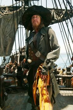Captain Hector Barbossa - Pirates of the Caribbean: At World's End.  #pirates