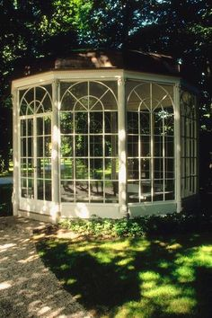 Like the glass enclosure outdoors - for anything.  Garden Gazebo Hot Tub Shed