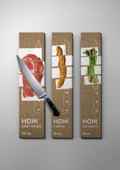 knife packag, logo, food packaging, graphic, behance, cooking, packag design, knives, creativ packag