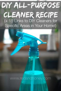 Homemade all-purpose-cleaner - frugal, easy, effective (plus more DIY cleaners for specific areas of your house) #springcleaning
