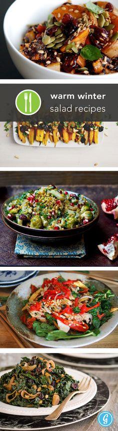 Warm Winter Salad Recipes via greatist #Salad #Winter #Healthy