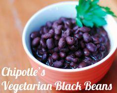 Copycat recipe for Chipotle's Vegetarian Black Beans recipe
