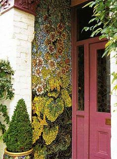 I want to make a mosaic garden on my garden wall