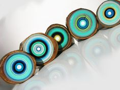 Original Tree Ring Paintings by Tracy Melton, focuslineart, on Etsy