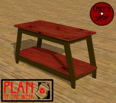 Plan of the Week: TV Stand