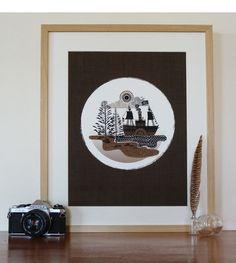 paddleboat art, tmod treasur, art prints, a3 paddleboat