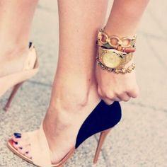 dark heel, colour heel, black heels, navi heel