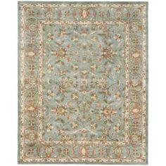 Handmade Heritage Nir Blue Wool Rug (6' x 9')