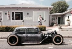 Rat Rod Mini Cooper. this thing is freaking cool!