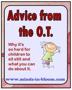 Helping kids sit still...